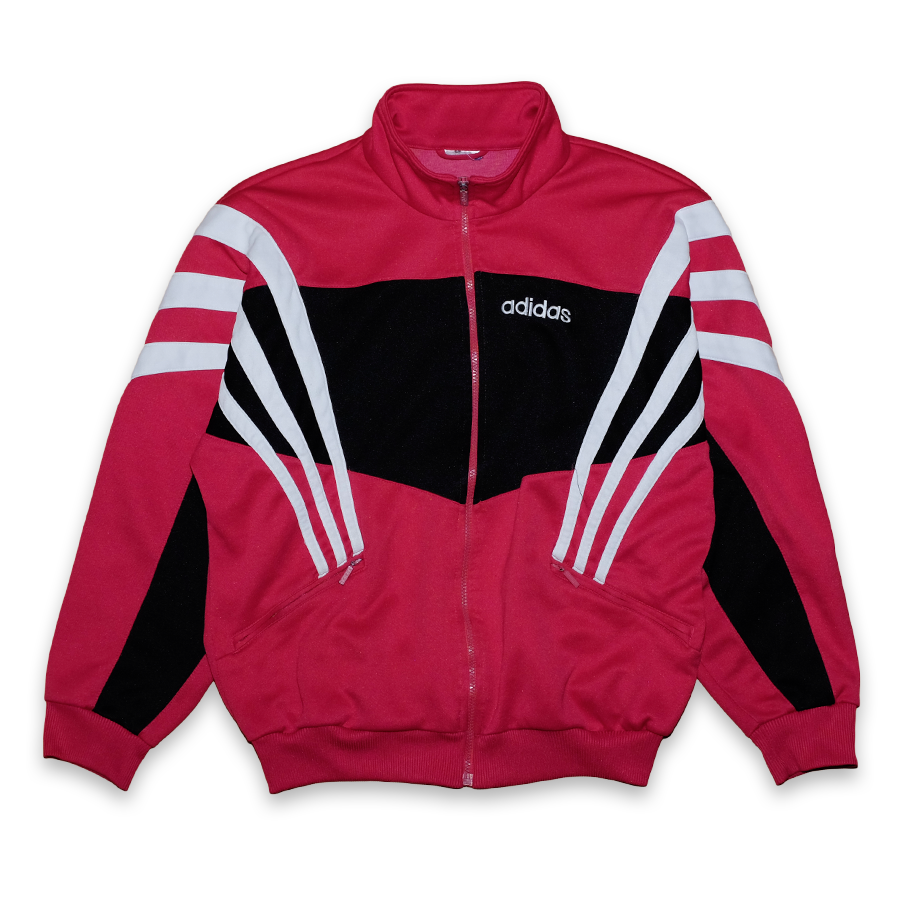 Vintage adidas Three Stripes Trackjacket Red/Black/White