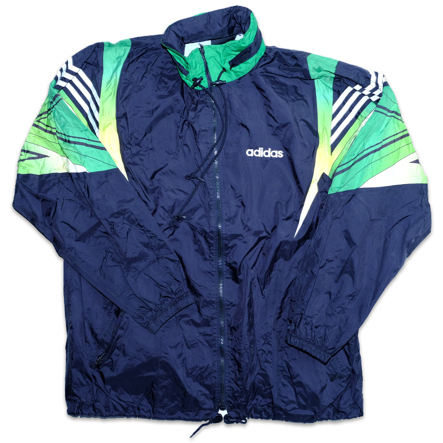 Vintage adidas Rainjacket with crazy shoulder print