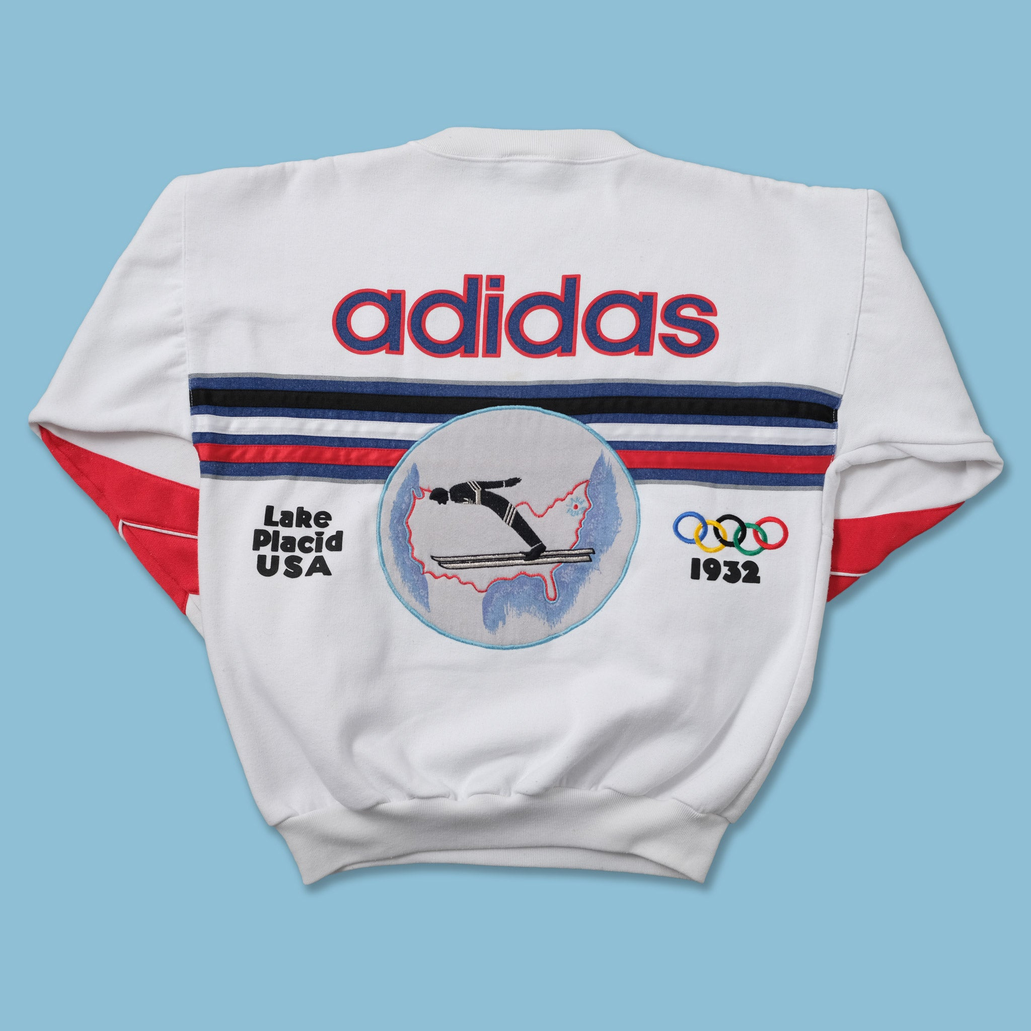 Vintage 80s adidas Lake Placid Olympic Sweater