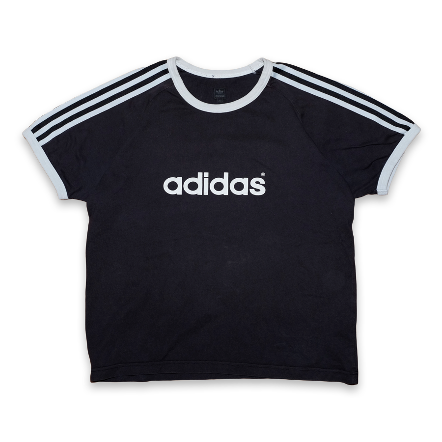 Vintage Women adidas T-Shirt Black/White