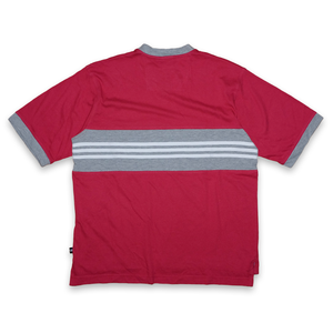 Vintage adidas Three Stripes Chest Logo V-Neck T-Shirt