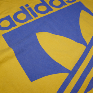 Vintage adidas T-Shirt Big Trefoil Logo Yellow/Purple