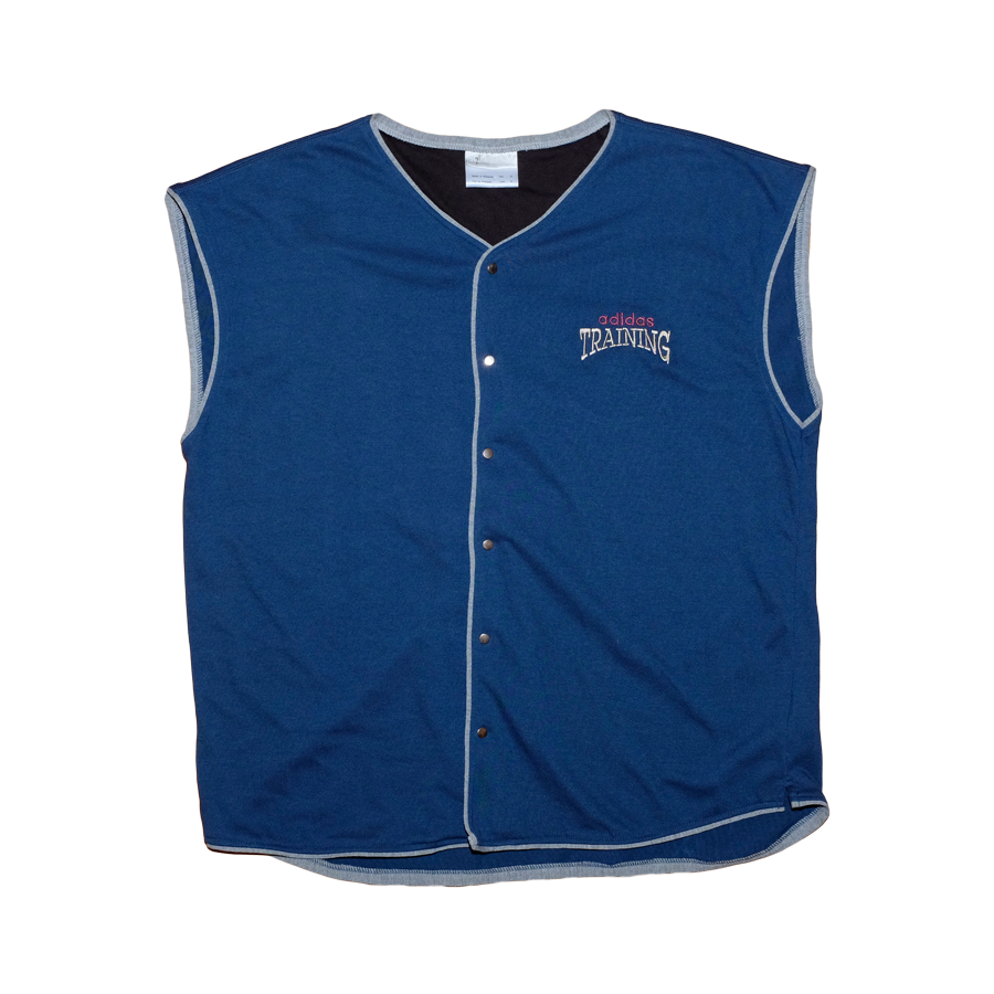 Vintage adidas Training Logo Vest Blue