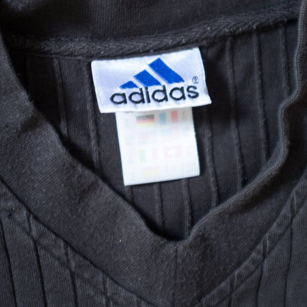Vintage adidas centered Logo V-Neck T-Shirt