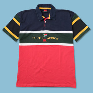 Vintage Canterbury South Africa Rugby Polo Large