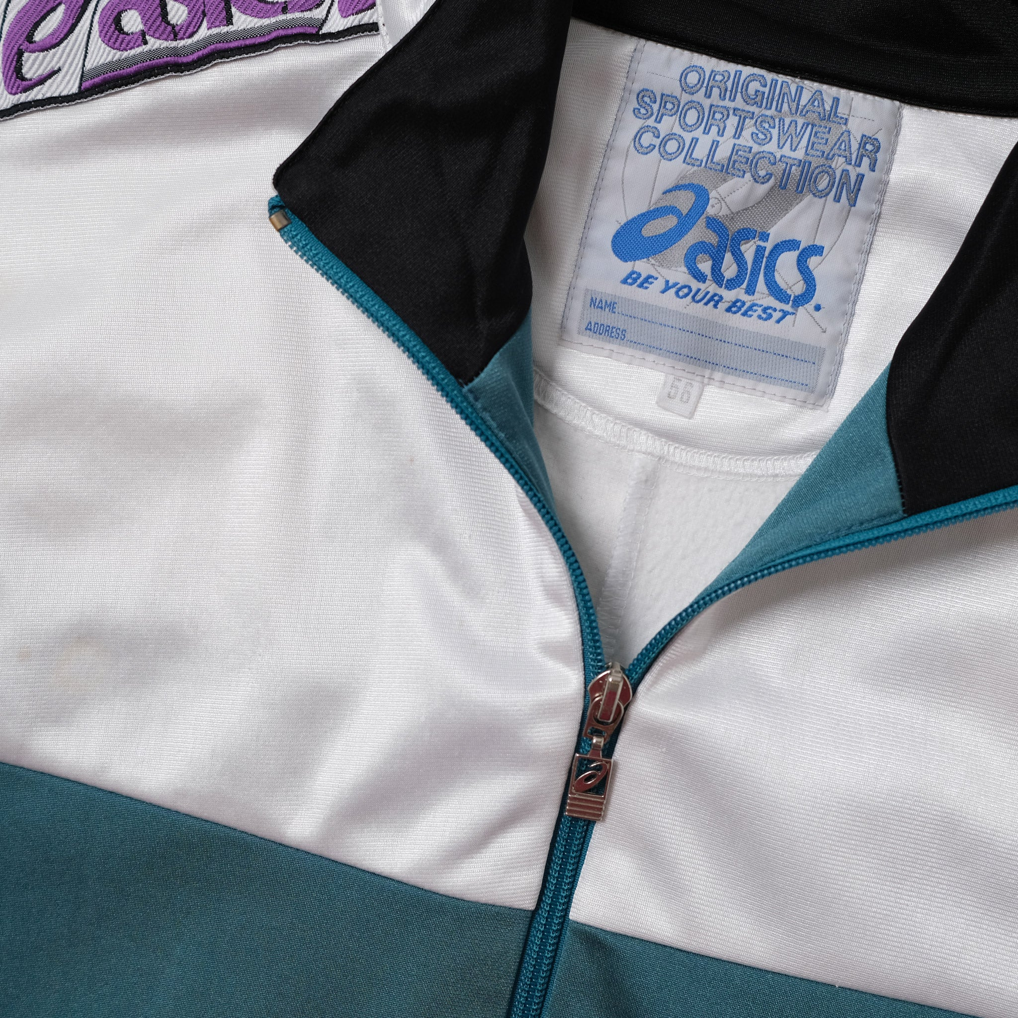 Vintage Asics Tape Track Jacket Large