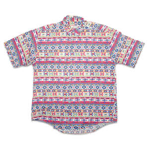 Vintage Aztec Pattern Short-Sleeve Shirt