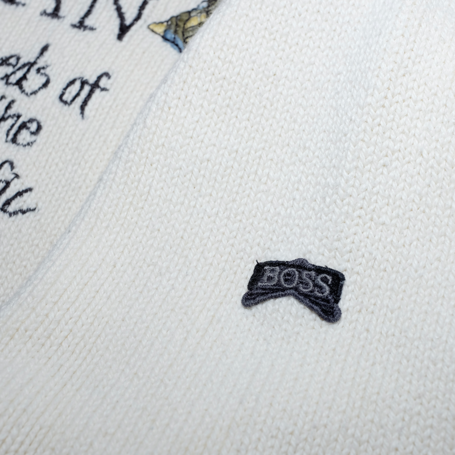 Vintage Hugo Boss Women Sweatshirt with beautiful Details / Pacific Ocean Embroidery / made in Germany