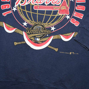 Vintage 1995 Atlanta Braves Sweater XLarge / XXL