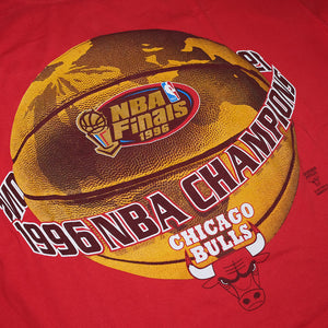 Vintage Chicago Bulls Finals 1996 T-Shirt XLarge