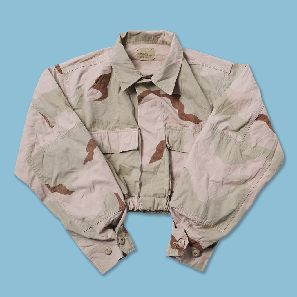 Vintage Women's Cropped Military Shirt Onesize