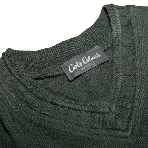 Carlo Colucci V-Neck Sweater Large