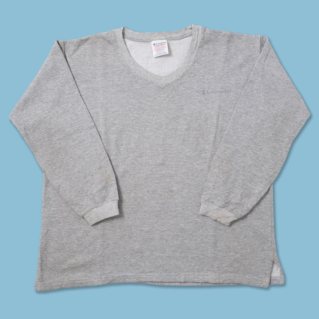 Vintage Champion V-Neck Sweater Medium