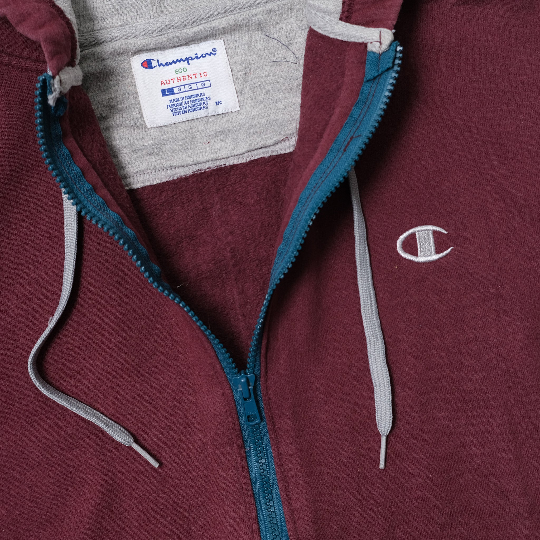 Vintage Champion Zip Hoody Large