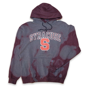 Champion Syracuse Hoody Bleach Large - Double Double Vintage