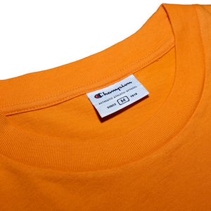 Vintage Champion T-Shirt with Chest Logo Orange