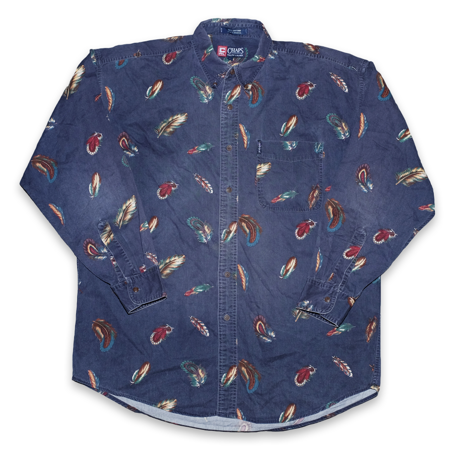 Vintage Chaps By Ralph Lauren Feather Shirt XLarge