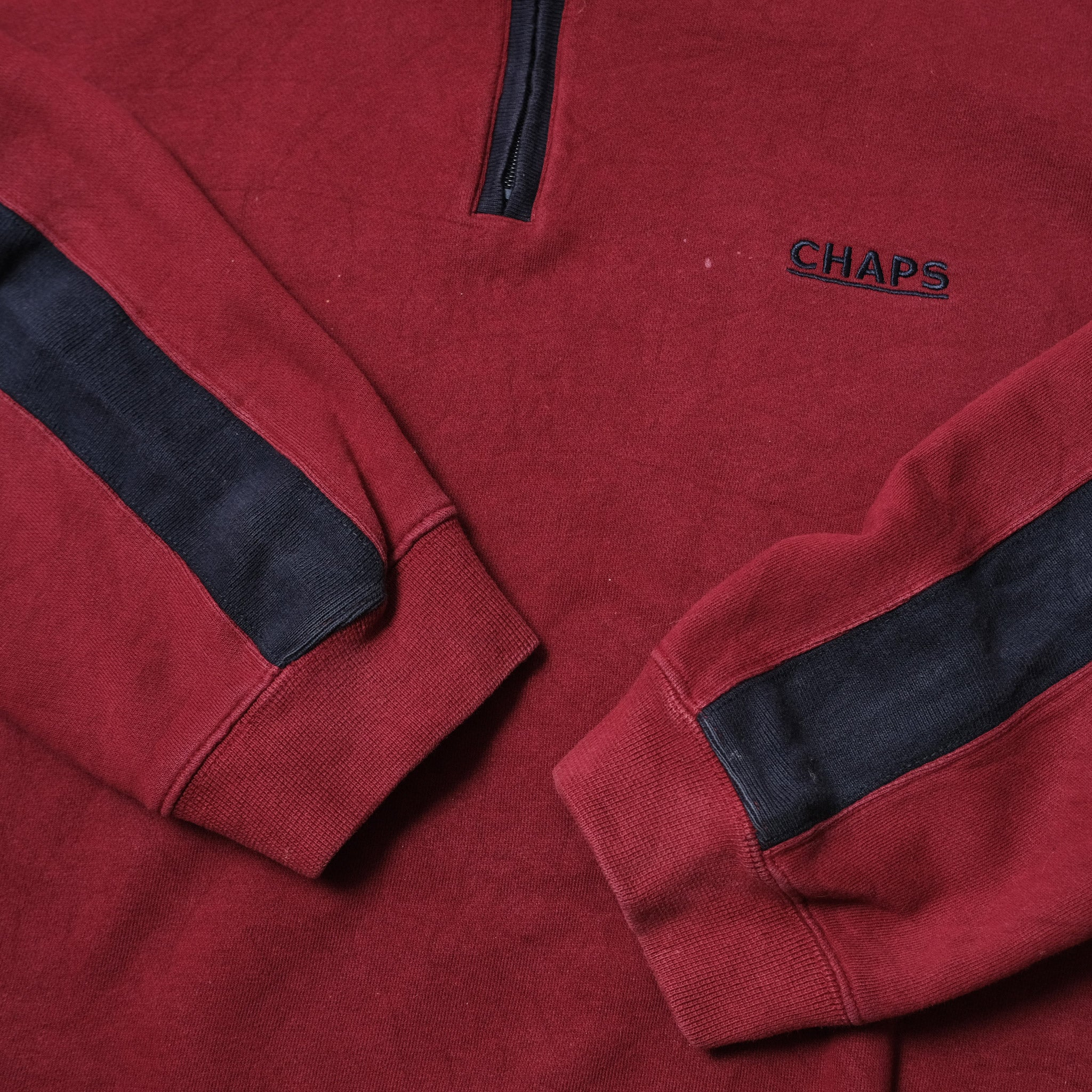 Vintage Chaps By Ralph Lauren Q-Zip Sweater XLarge