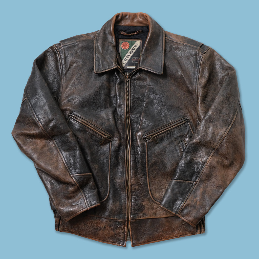 Vintage Chevignon Leather Jacket Large