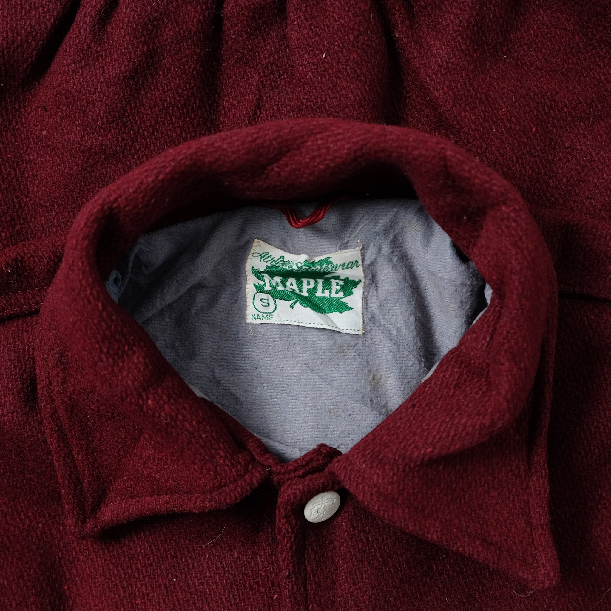 Vintage College Wool Jacket Medium