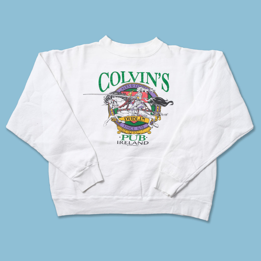 Vintage 1990 Colvins Pup Ireland Sweater Small