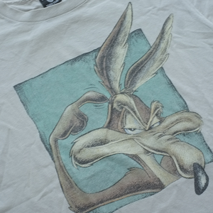 Vintage Warner Bros. Looney Tunes Coyote T-Shirt Grey