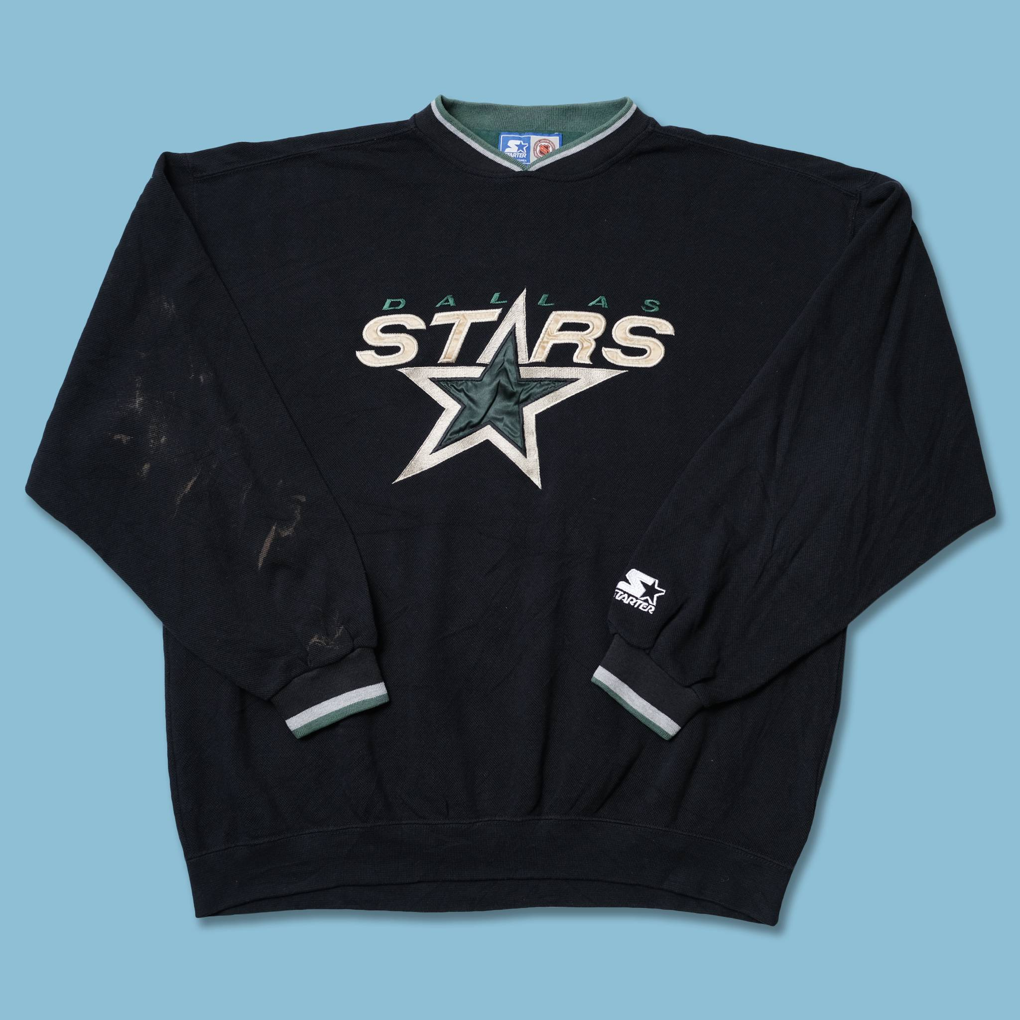 Vintage Starter Dallas Stars Sweater XLarge