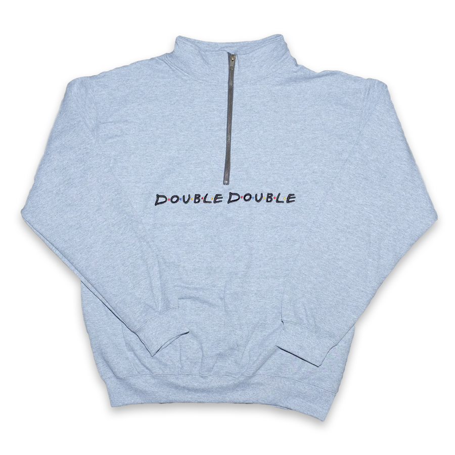 Double Double Friends Q-Zip Sweater