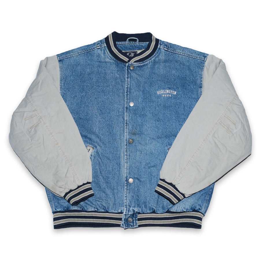 Vintage Denim College Jacket XLarge