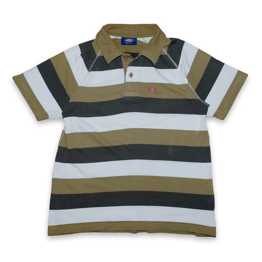 Vintage Dickies Striped Polo Shirt
