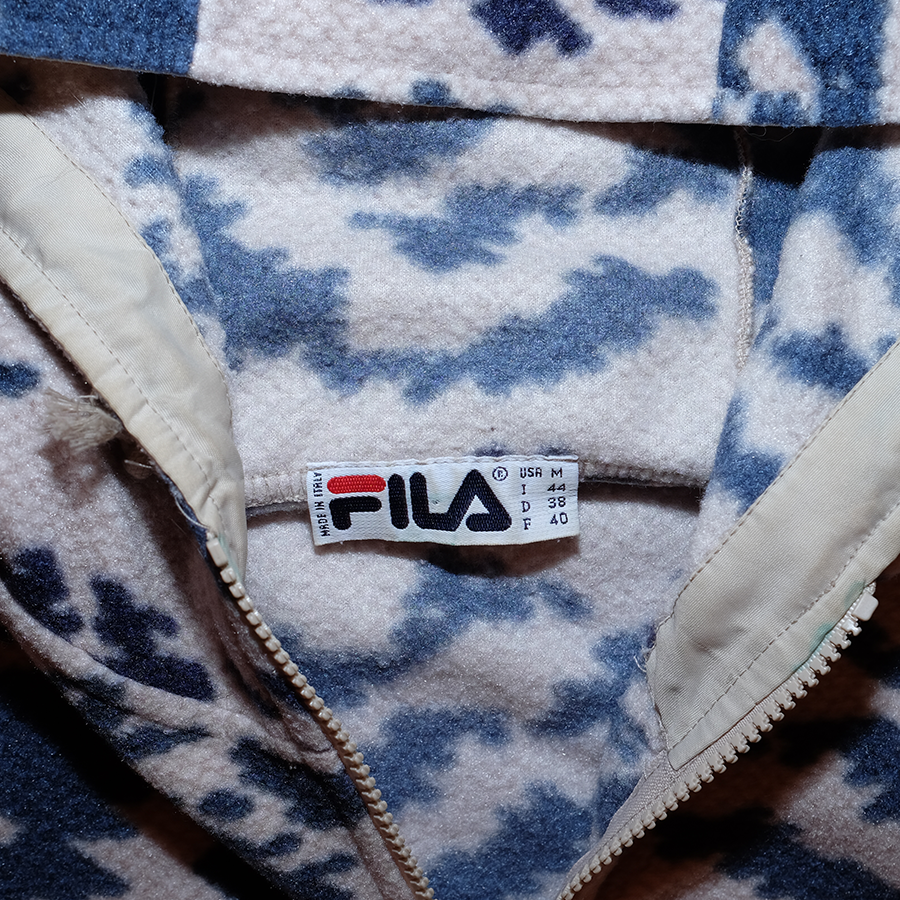 Fila Hooded Half Zip Fleece Medium (wmns) - Double Double Vintage