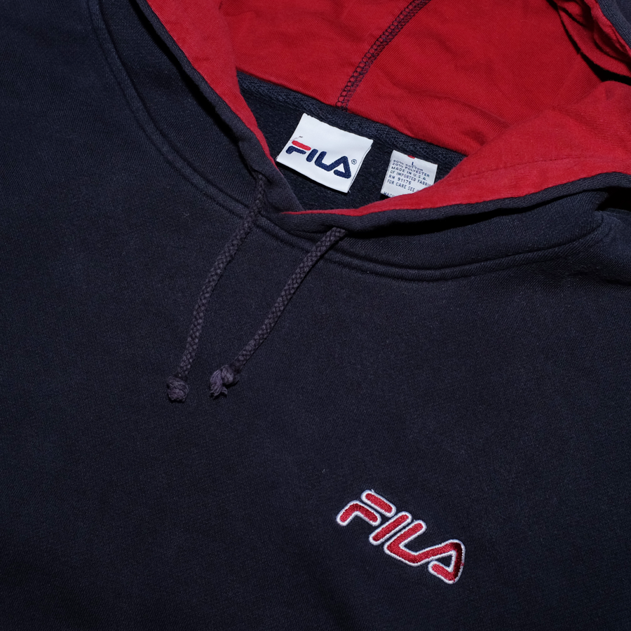 Vintage Fila Hoodie with big Logo on Sleeve / Made in USA