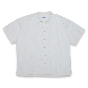 Vintage Fila Short Sleeve Shirt with Chest Pocket off white