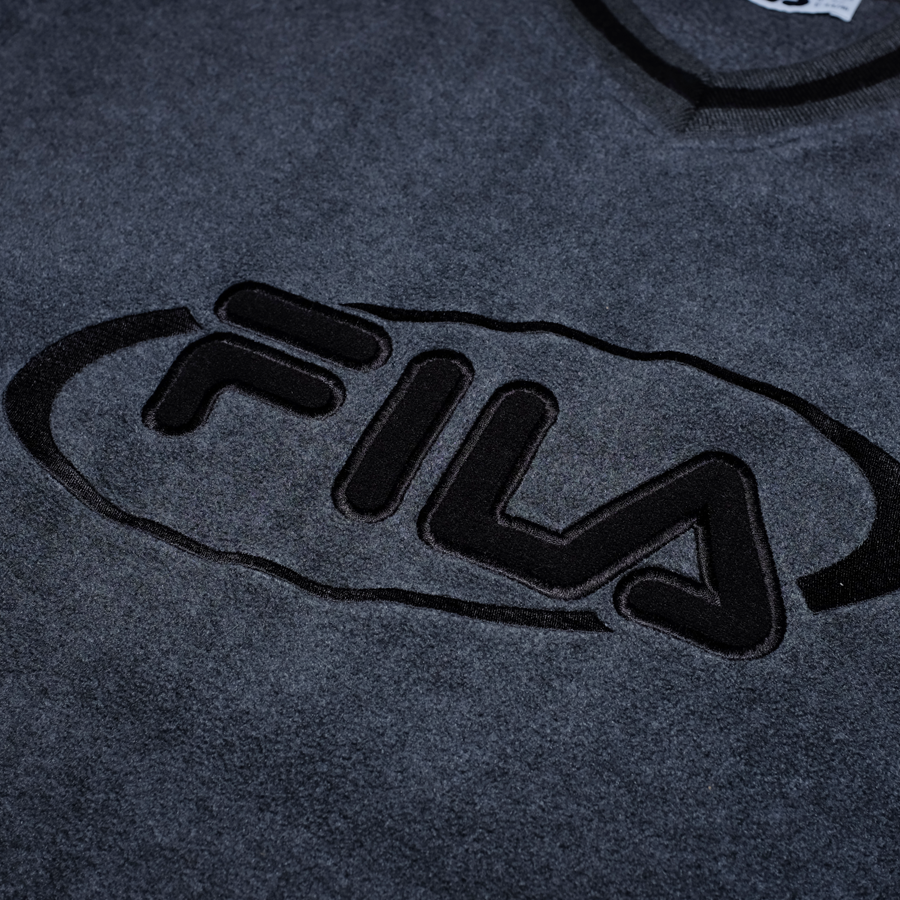 Vintage Fila Fleece Sweatshirt Large / XLarge