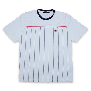 Vintage Fila Vertical Stripes T-Shirt Large - Double Double Vintage