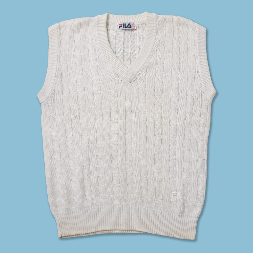 Vintage Fila Knit Vest Medium