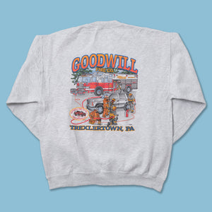 Vintage Goodwill Fire Co. Sweater Large