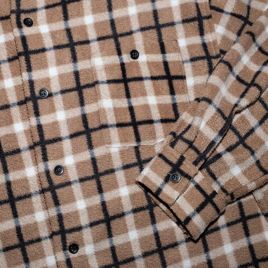Vintage Plaid Fleece Shirt Medium / Large