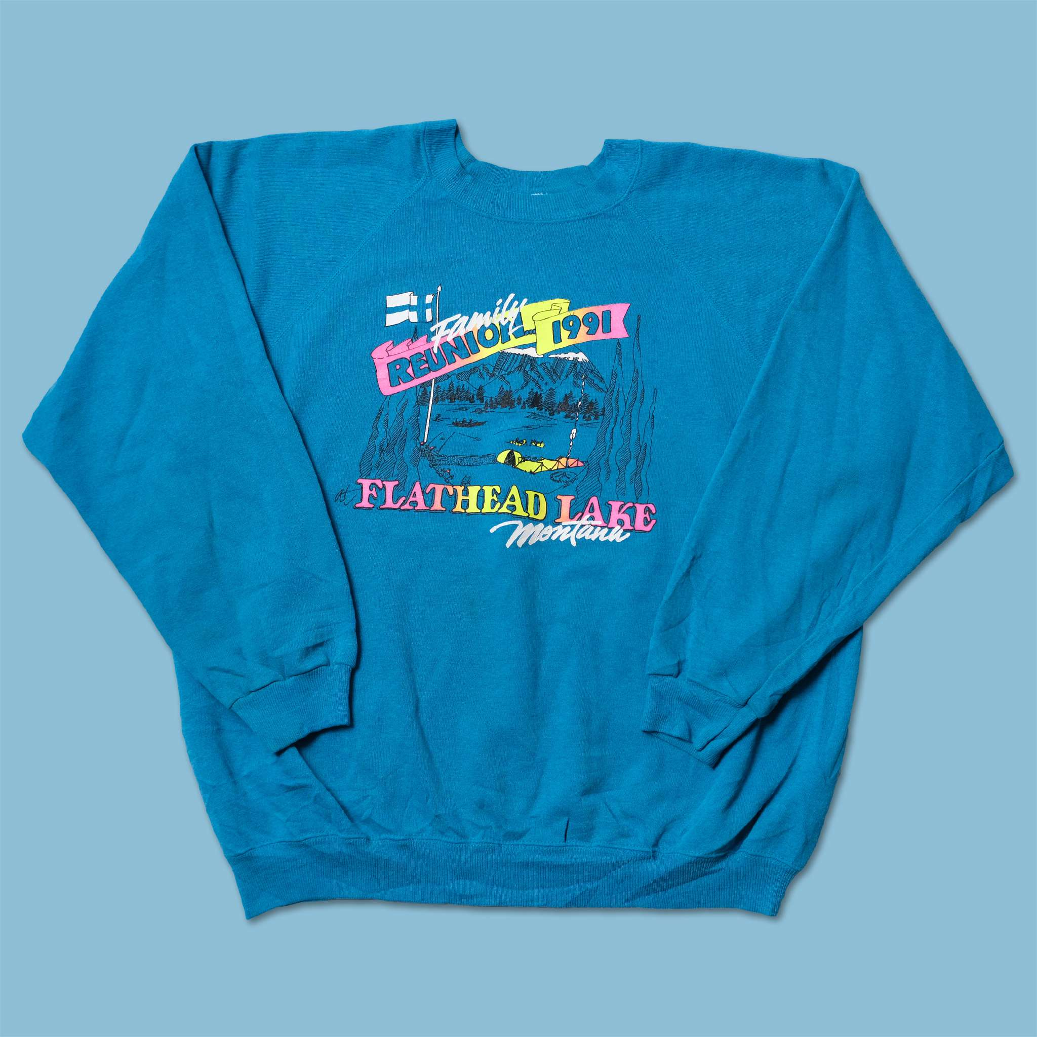 Vintage 1991 Family Reunion Sweater Large
