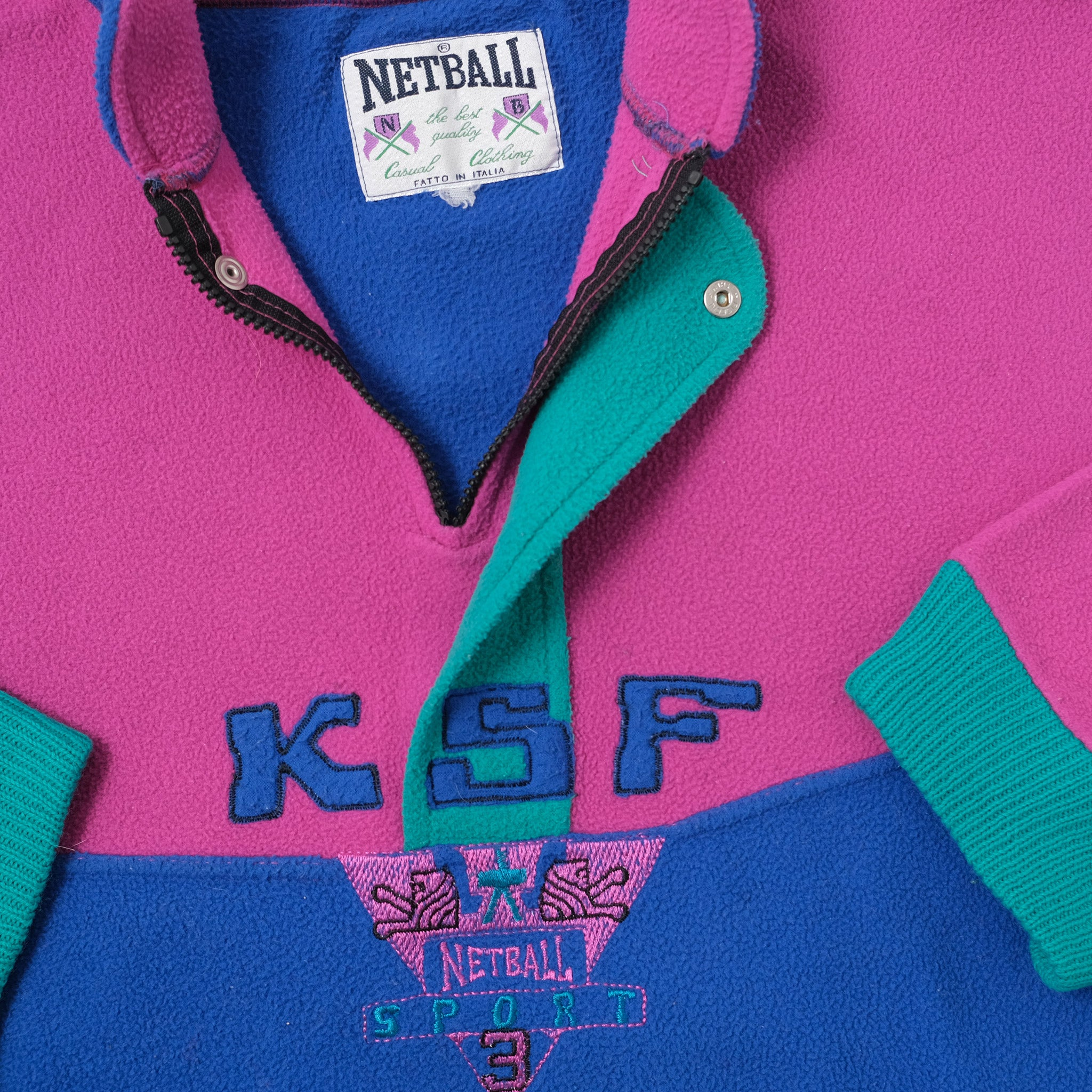 Vintage Color Block Fleece Medium