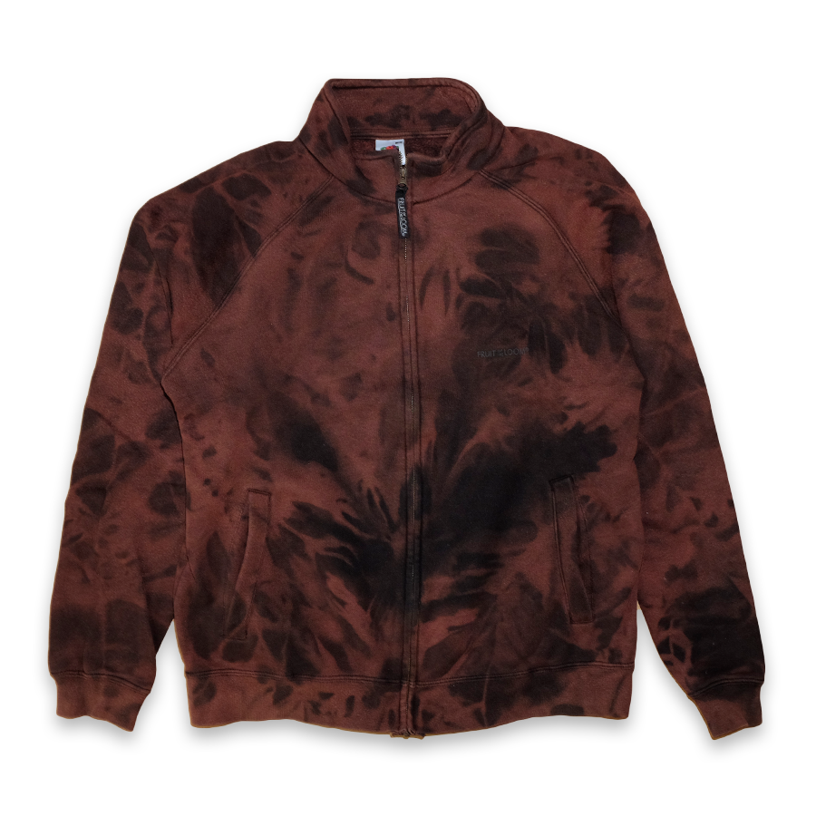 Vintage Fruit Of The Loom bleached Zip Jacket