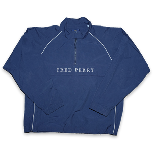 Vintage Fred Perry Q-Zip Windbreaker Large