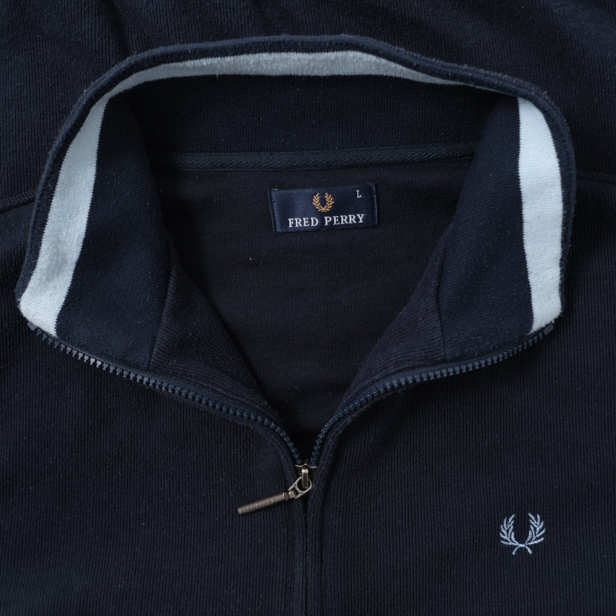 Vintage Fred Perry Sweat Jacket Large