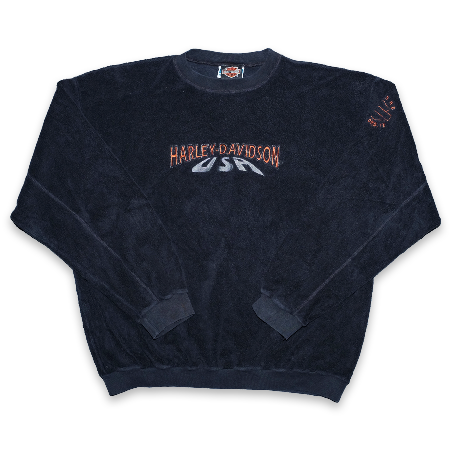 Vintage Harley Davidson Terry Sweater Large