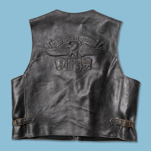 Vintage Harley Davidson Leather Vest Large
