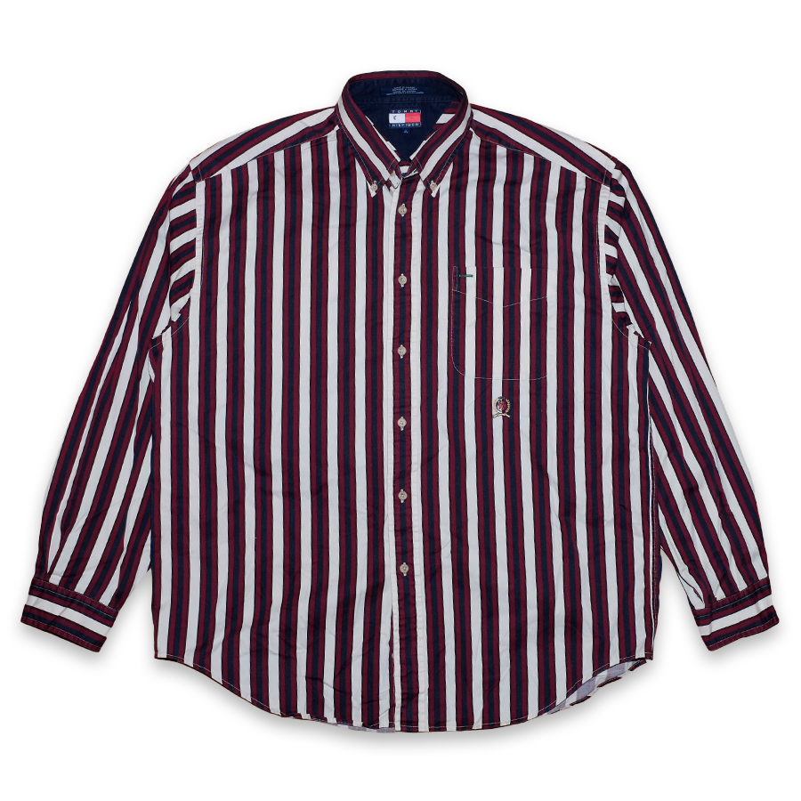 Vintage Tommy Hilfiger Vertical Striped Button Down Shirt