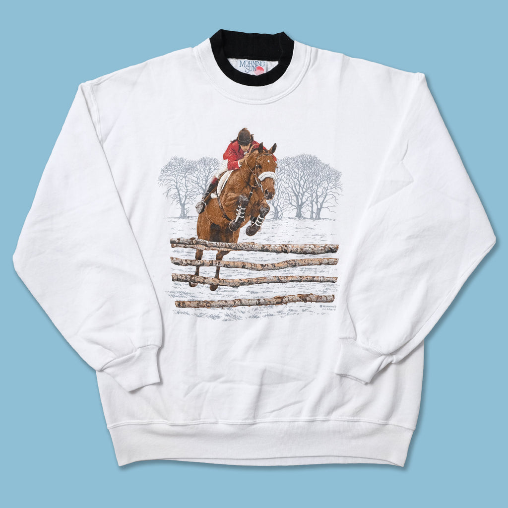 Vintage Horse Riding Sweater Large