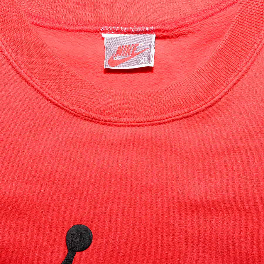 Vintage Air Jordan Sweater / Original 90s piece / Nike Grey Tag / Air Jordan Jumpman Square