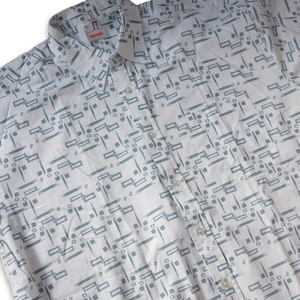 Vintage Short Sleeve Abstract Pattern Shirt