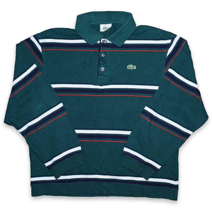 Vintage Lacoste Striped Long Polo Small